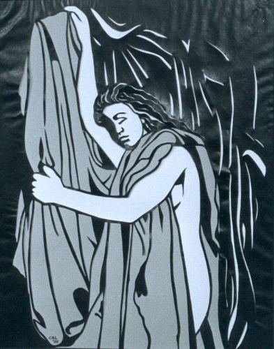 Vrouw melancholie